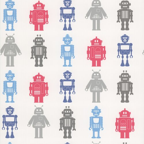 Brewster Home Fashions Kids World Robot League Wallpaper