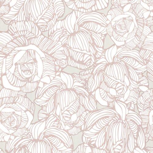 Brewster Home Fashions Zinc Calista Modern Rose Wallpaper
