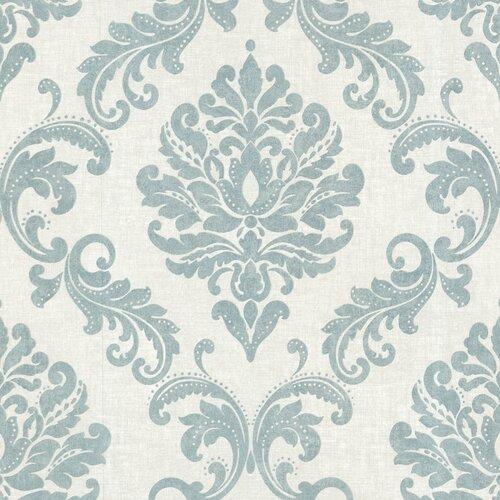 Brewster Home Fashions Zinc Sebastion Damask Wallpaper