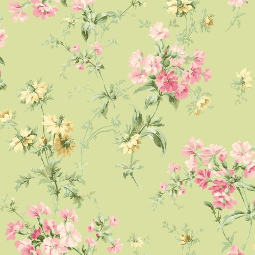 Brewster Home Fashions Springtime Cottage Wildflower Toss Wallpaper