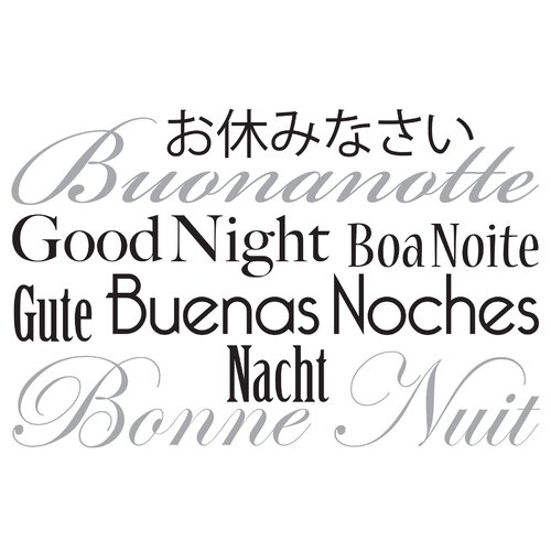 Brewster Home Fashions Euro Good Night Quote Wall Decal