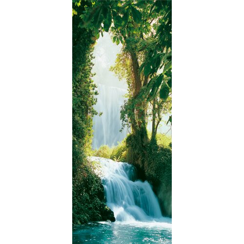 Brewster Home Fashions Ideal Decor Zaragoza Falls Wall Mural