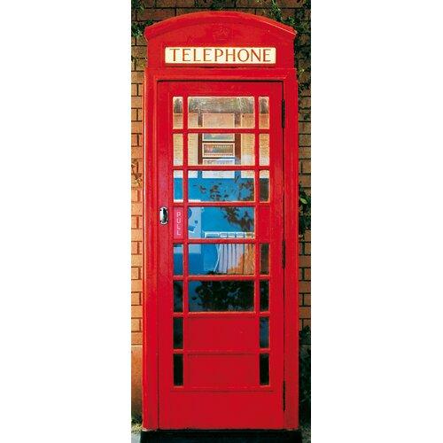 Brewster Home Fashions Ideal Decor Telephone Box Wall Mural