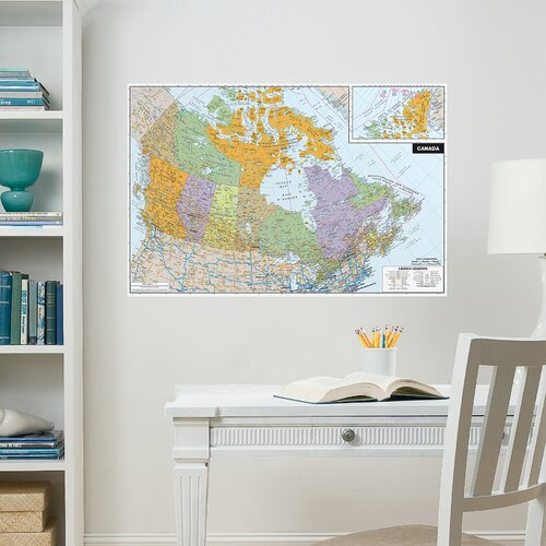 Brewster Home Fashions WallPops Canada Whiteboard Wall Decal