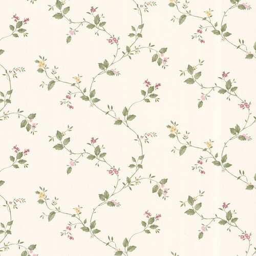 Brewster Home Fashions Dollhouse Veronica Floral Trail Wallpaper
