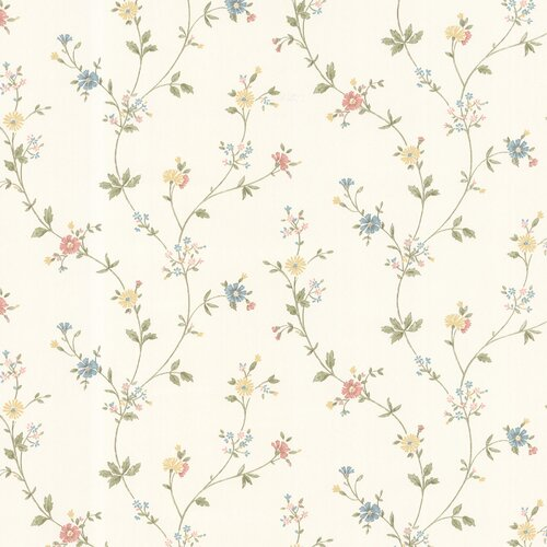 Brewster Home Fashions Dollhouse Deanna Trail Floral Botanical Wallpaper