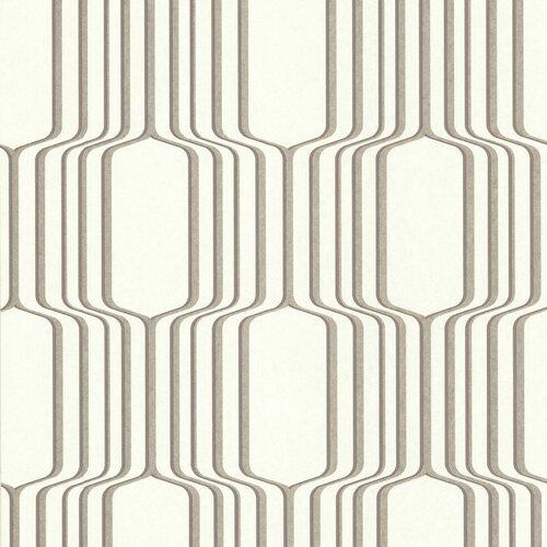 Brewster Home Fashions Geo Vina Square Ogee Geometric Wallpaper