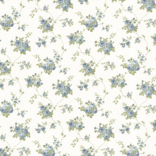Brewster Home Fashions Dollhouse Isabella Rose Floral Trail Wallpaper
