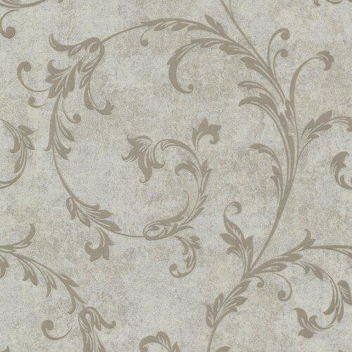 Brewster Home Fashions Buckingham Milton Shimmer Scroll Wallpaper
