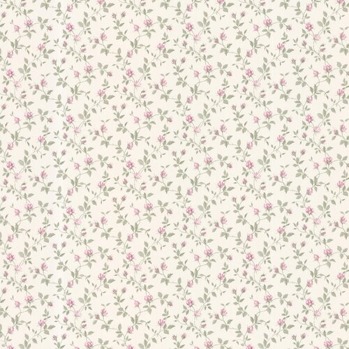 Brewster Home Fashions Dollhouse Izabella Rosebud Floral Wallpaper