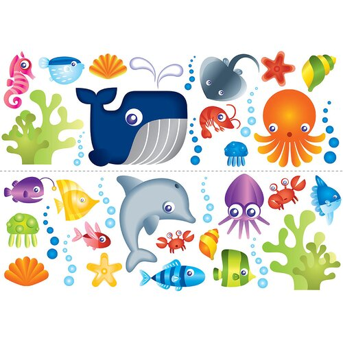 Brewster Home Fashions Fun4Walls Stikarounds Under the Sea Wall Decal