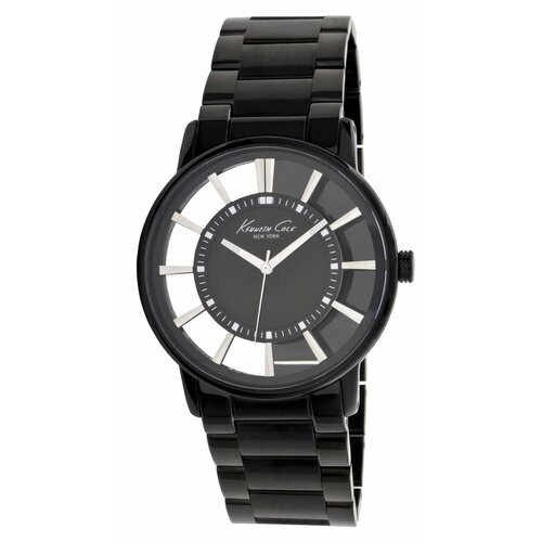 Men's Transparency Round Bracelets Watch in Gunmetal and Black