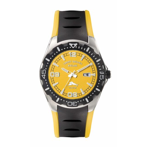 Tommy Bahama Relax Men's Beach Cruiser Watch in Yellow and Black