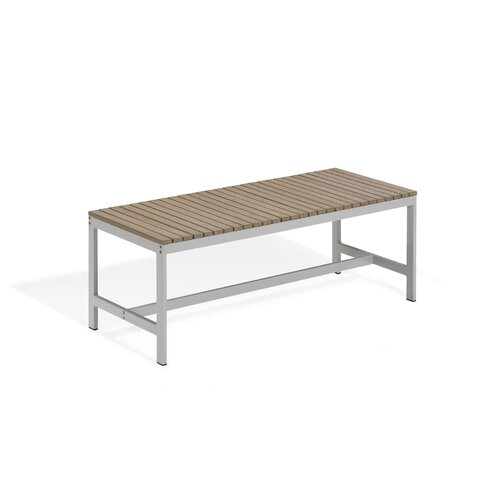 Oxford Garden Travira Wood and Aluminum Picnic Bench