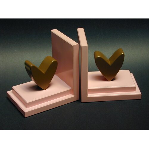 One World Heart Book Ends