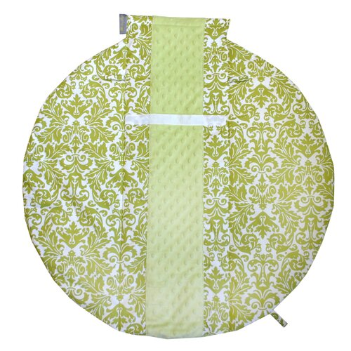 Itzy Ritzy Wrap and Roll Infant Carrier Avocado Damask Arm Pad and Tummy Time Mat