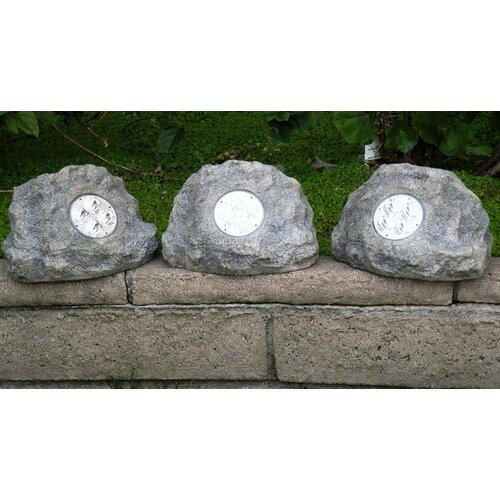 Homebrite Solar Solar Power Jumbo Rock Spot Light (Set of 3)
