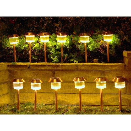 Homebrite Solar Solar Power Belmont Path Light (Set of 12)