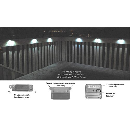 Homebrite Solar Solar Power Wunder Mini Spotlight for Deck (Set of 6)