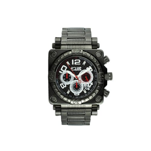 Gasket Men's Watch with Black Metal Band and Black Dial