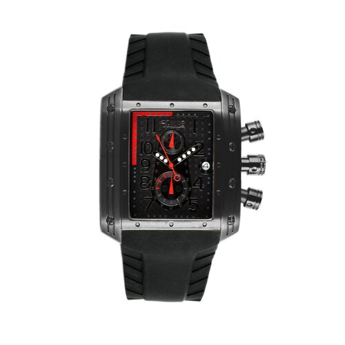 Big Block Men's Watch with Black Dial and Hand