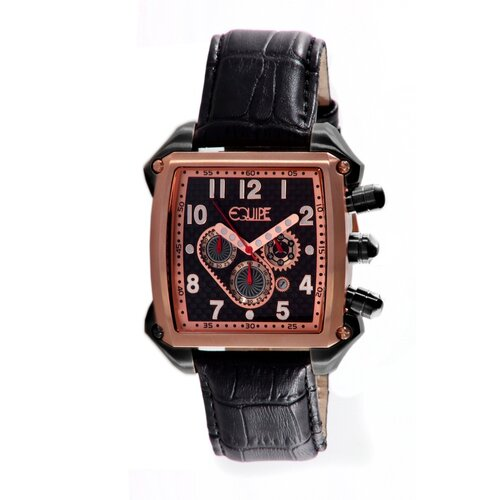 Bumper Men's Watch with Rose Gold Case and Black Crown