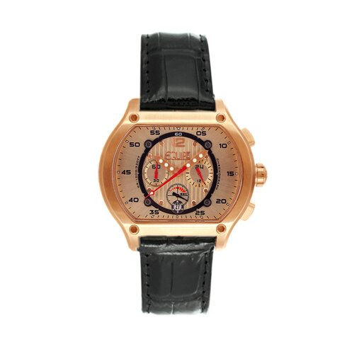 Dash Men's Watch with Black Band and Rose Gold Case