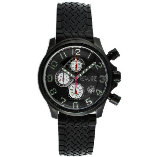 Equipe Hemi Men's Watch with Black Rubber Band and Black Hand