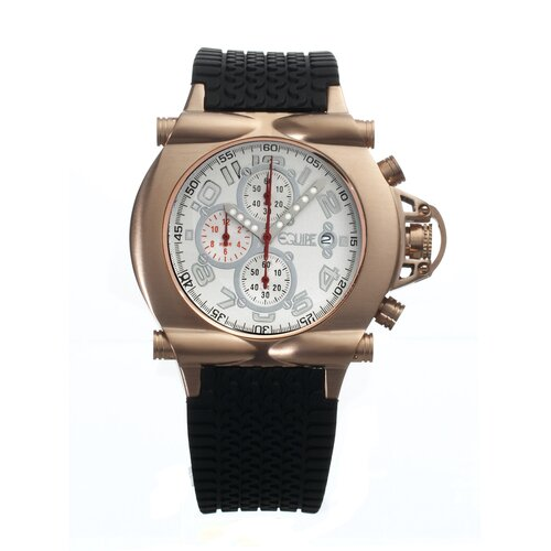 Rollbar Men's Watch with Rose Gold Case and White Dial
