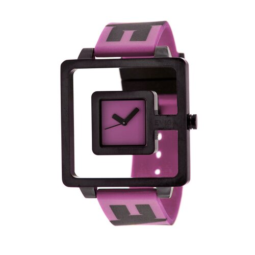 Hola Watch with Lavender Rubber Band