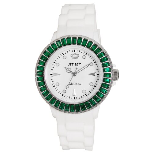 Addiction Limited Ladies Watch with Green Bezel