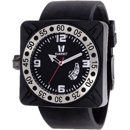 Deepest Gent Men's Watch in Black with Black Dial
