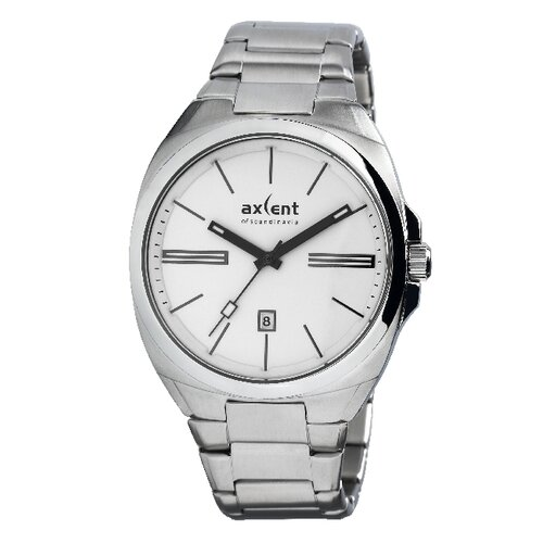 Axcent Impact Men's Watch in Silver with White Dial