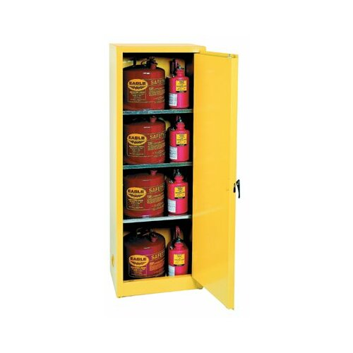 "Eagle 65"" H x 23"" W x 18"" D Flammable Liquid 24 Gallon Safety Storage Cabinet"