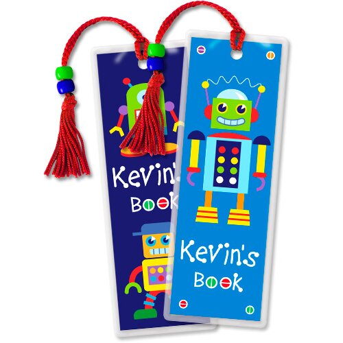 Olive Kids Robots Personalized Bookmark