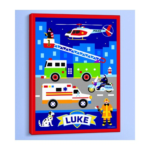 Olive Kids Heroes Personalized Canvas Art
