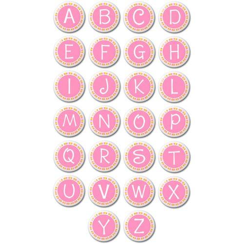 Monogrammed Round Knob (Set of 2)