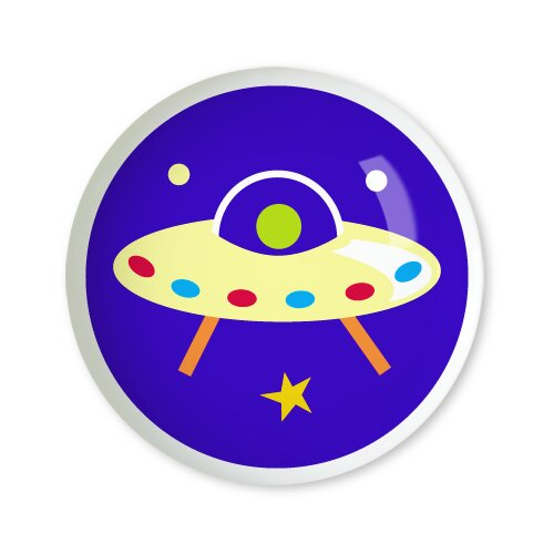 """Olive Kids Out of This World 1.5"""" Round"""