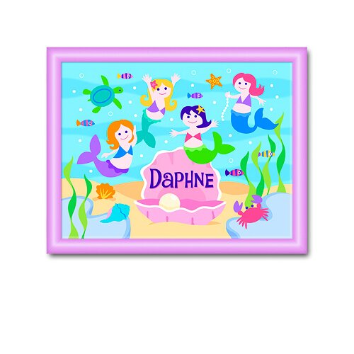 Olive Kids Mermaids Personalized Framed Art
