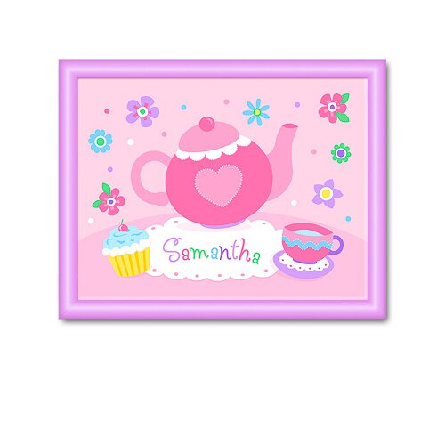 Olive Kids Tea Party Personalized Framed Art