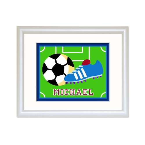 Olive Kids Game On Personalized Soccer Framed Art