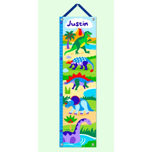 Olive Kids Dinosaur Land Personalized Growth Chart