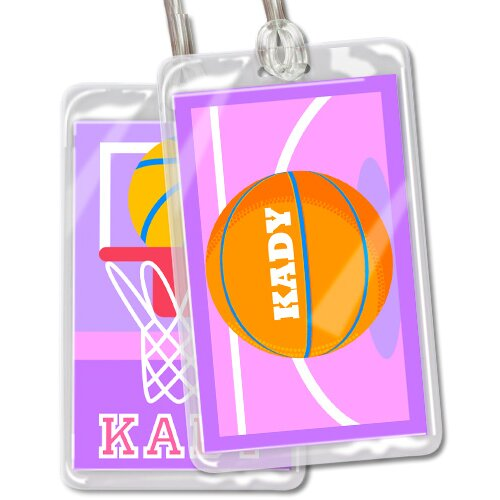 Olive Kids Basketball Girls Personalized Name Tag