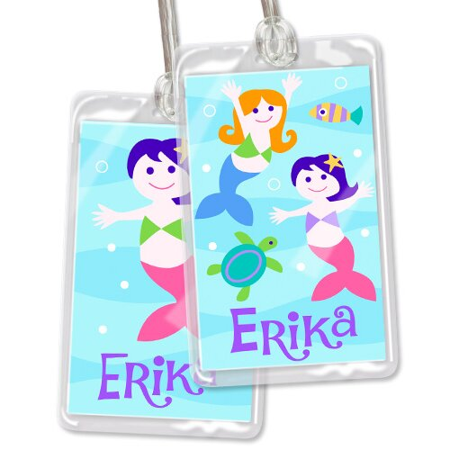 Olive Kids Mermaids Personalized Name Tag