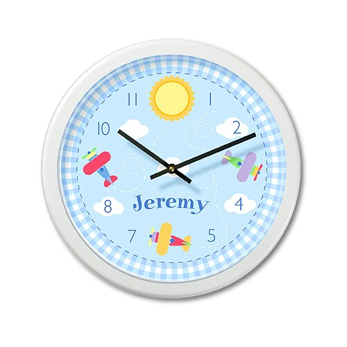 "Olive Kids Up and Away 12"" Personalized Wall Clock"