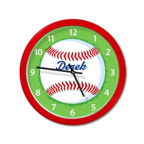 """Olive Kids Baseball 12"""" Personalized Wall Clock"""