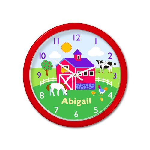 "Olive Kids Country Farm 12"" Personalized Wall Clock"