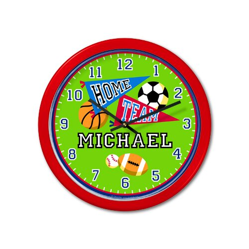"""Olive Kids Game On 12"""" Personalized Wall Clock"""