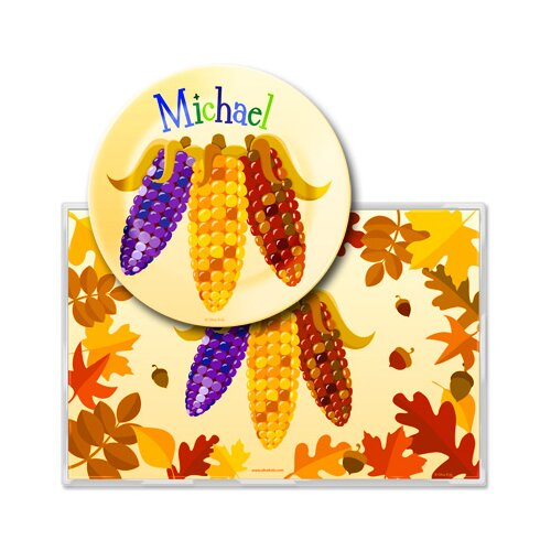 Olive Kids Fall Harvest Personalized Meal Time Plate Set