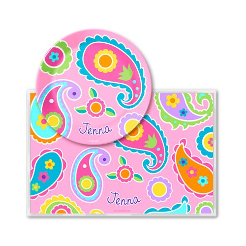 Paisley Dreams Personalized Meal Time Plate Set